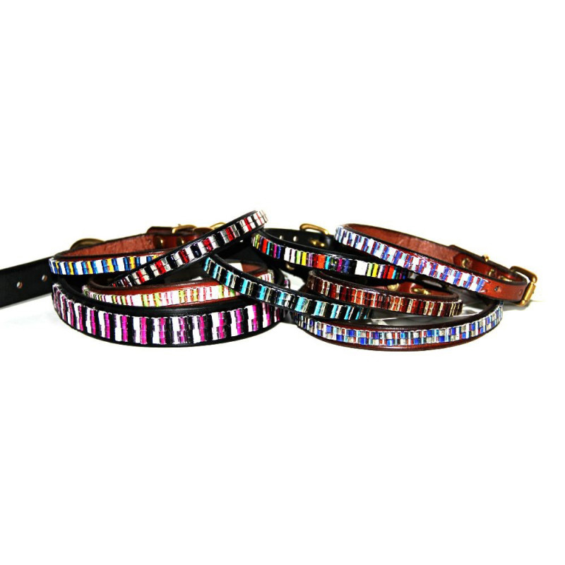Hand beaded pet collars