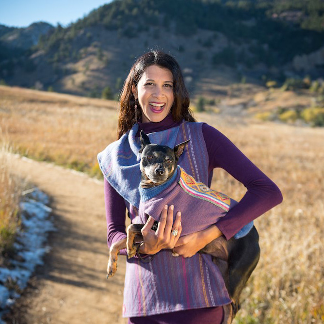matching dog knit sweater and women's tunic