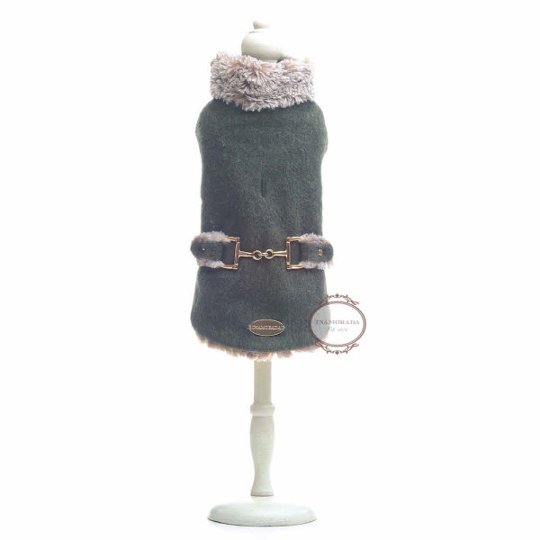 Gorgeous wool dog coat made in Italy