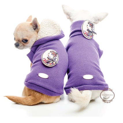 Gorgeous knit dog sweater in different colors and with hood or as turtleneck