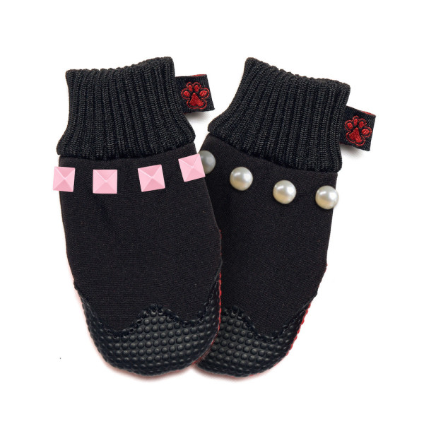 Fashionable dog boots with interchangeable straps