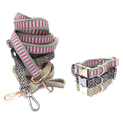 stylish dog fashion; designer eco friendly collar and leash
