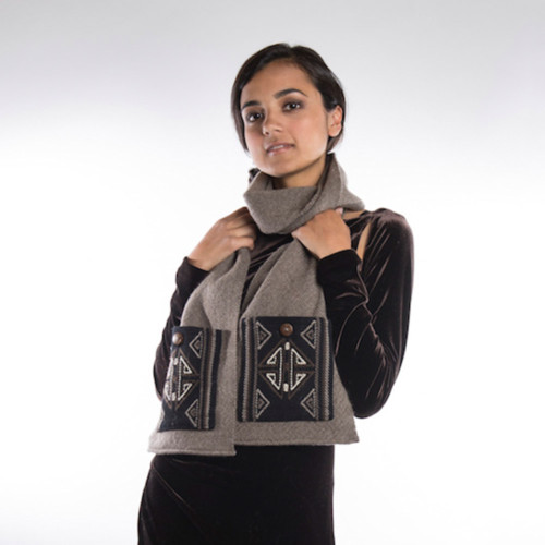 eco-friendly, artisan wool scarf from Bhutan