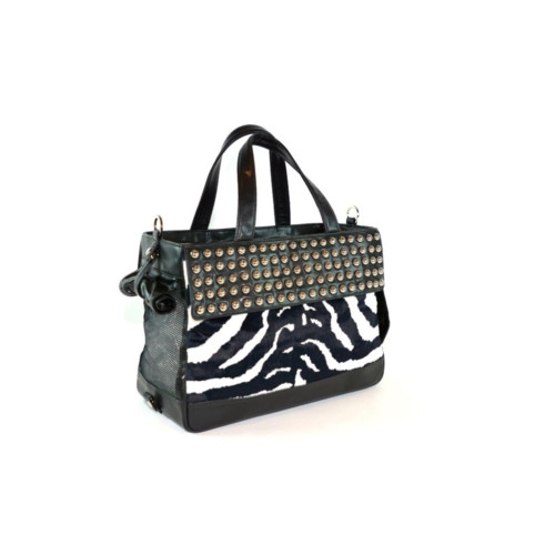 Stylish designer cruelty-free dog bag