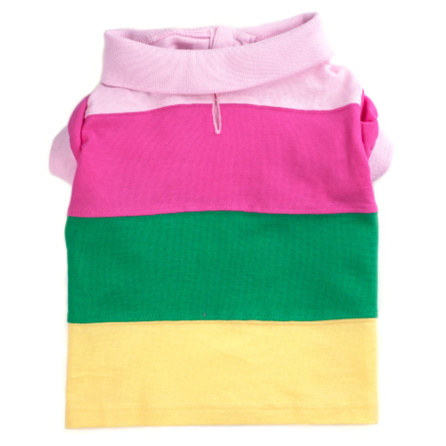 the latest spring fashion trends for your dog. Colorblock pastel polo tee.