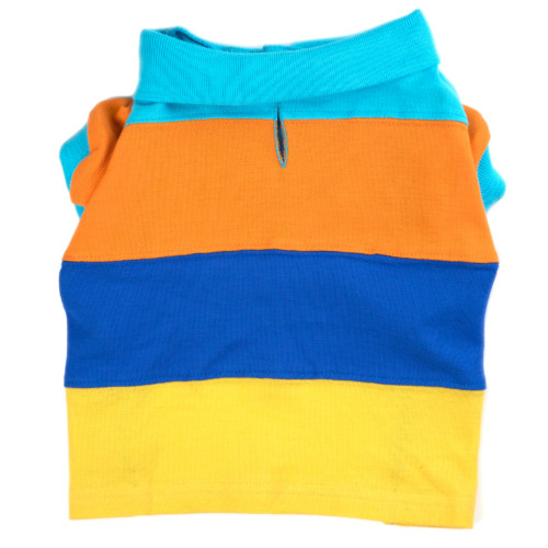 the latest spring fashion trends for your dog. Colorblock Polo tee.
