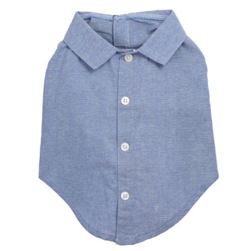 the latest spring fashion trends for your dog. Chambray boy shirt.