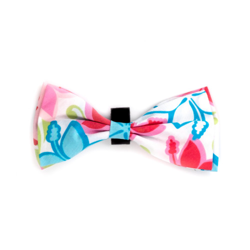 the latest spring fashion trends for your dog. Hibiscus floral bow tie.