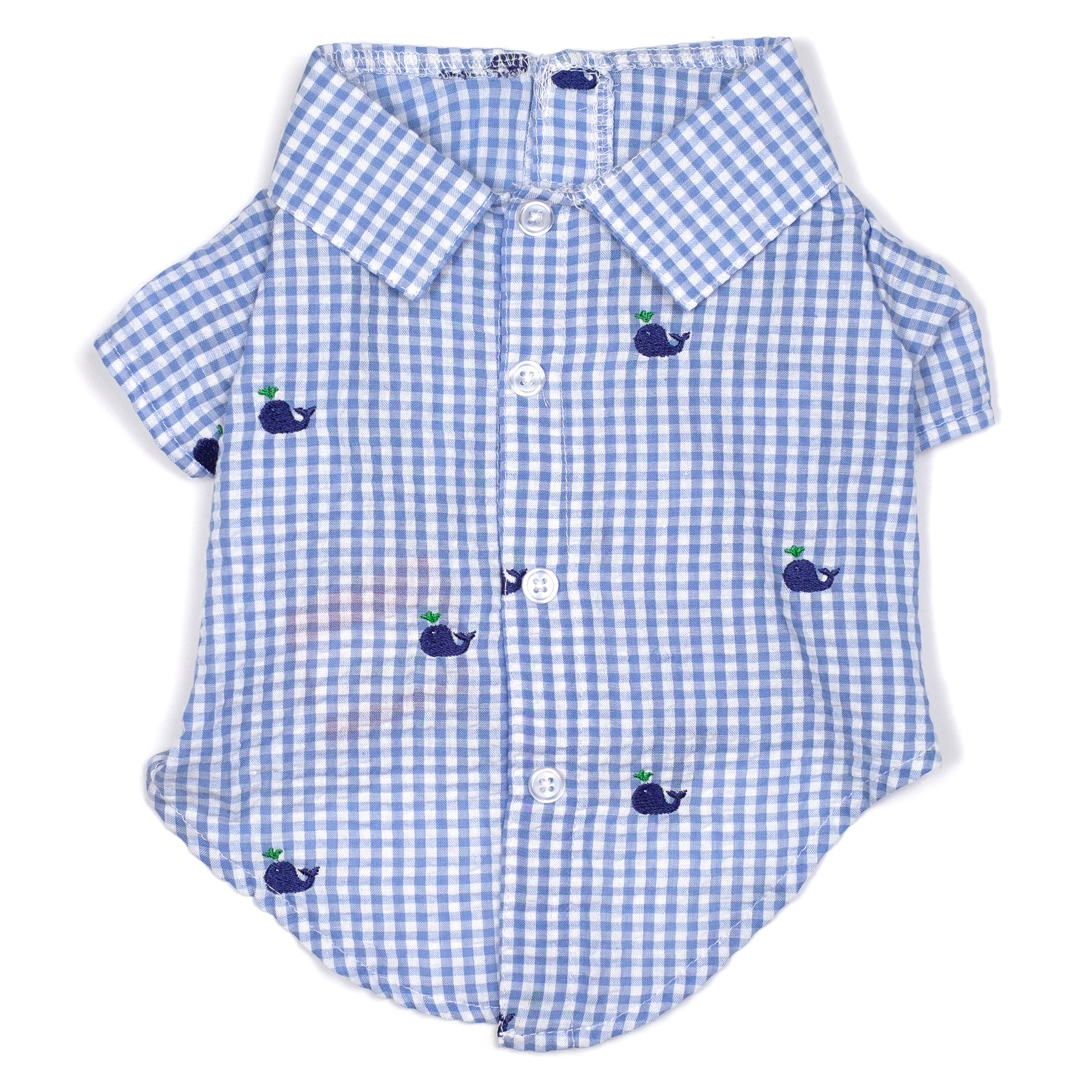 d69d4064af8 Summer Boy Shirt: Gingham-Whales - Bark and Swagger